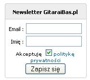 Newsletter w GitaraiBas.pl